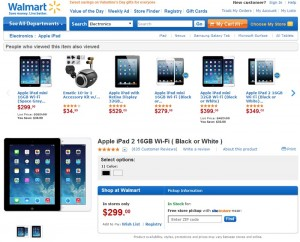 Walmart Slashes iPad 2 Price by $100, Costs $299 Now