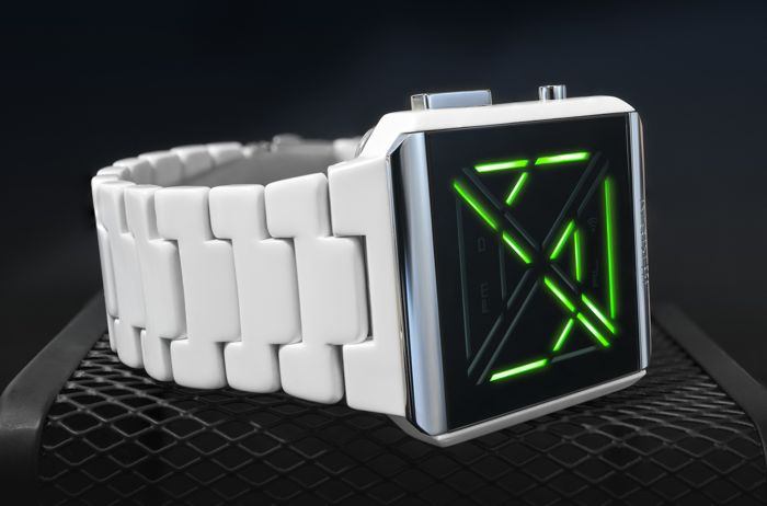 Tokyoflash Kisai X Acetate White LED Watch