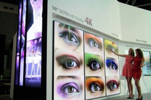 LG 105-Inch Ultra HD 4K commercial display shown off