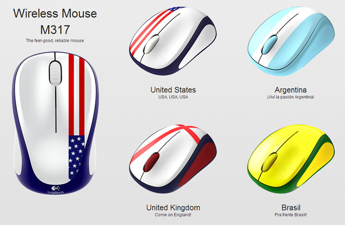 Logitech Global Fan Collection Mice offer wireless mice with national flags