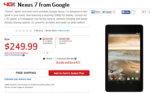 Google Nexus 7 Tablet Lands At Verizon