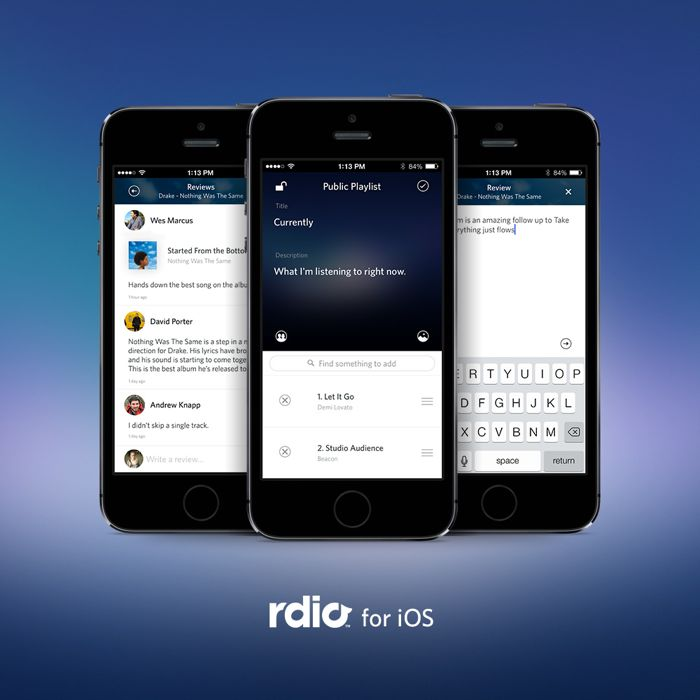 Rdio iOS