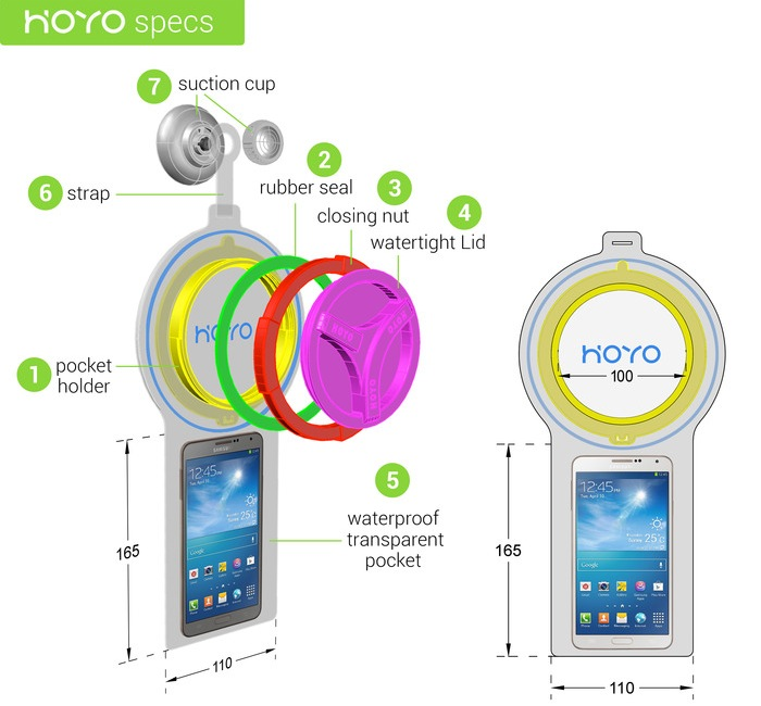 HOYO Smartphone Shower Case Lets You Wash And Read (video)