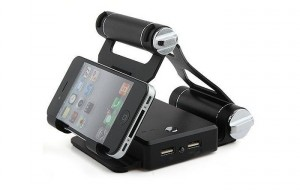 Adjustable Fuel Charger Tablet And Smartphone Stand (video)