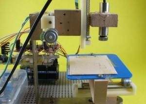 Arduino Mini Lazer Paper-Cutter (video)