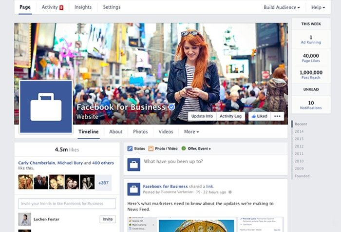 Facebook Pages On Desktop