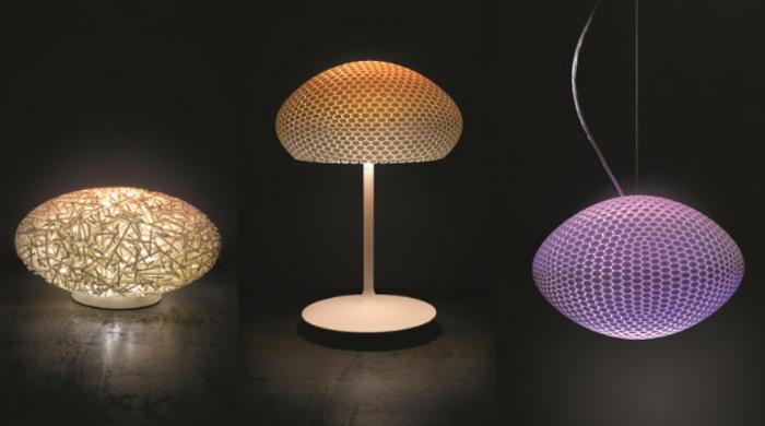Hue 3D-printed luminaires
