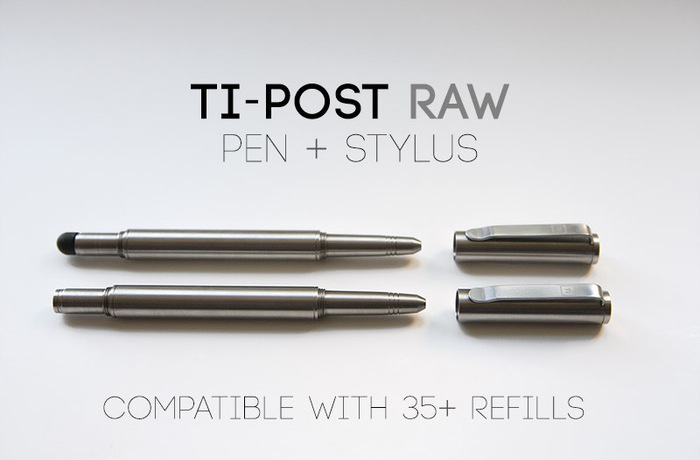 Ti-POST Raw Solid Titanium Pen And Stylus