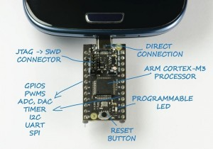 USB2Go Smartphone Powered ARM Cortex-M3 Development Board For Android