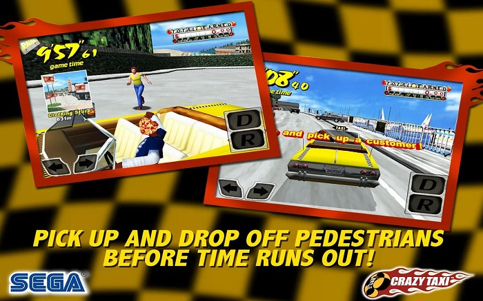 Crazy Taxi for Android Goes Free Ahead of the Launch of Sequel