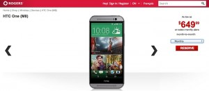 All New HTC One Pricing and Specs Leaked by Rogers Canada
