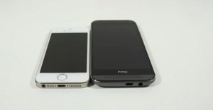 HTC One M8 vs iPhone 5S (Video)