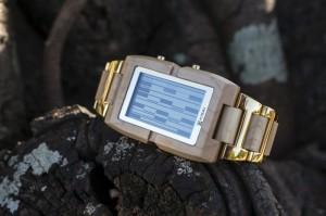 Tokyoflash Kisai Upload Wood LCD Watch