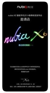ZTE Nubia X6 To Be Announced March 25th