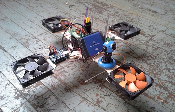 E waste quadcopter built using pc fans not really
