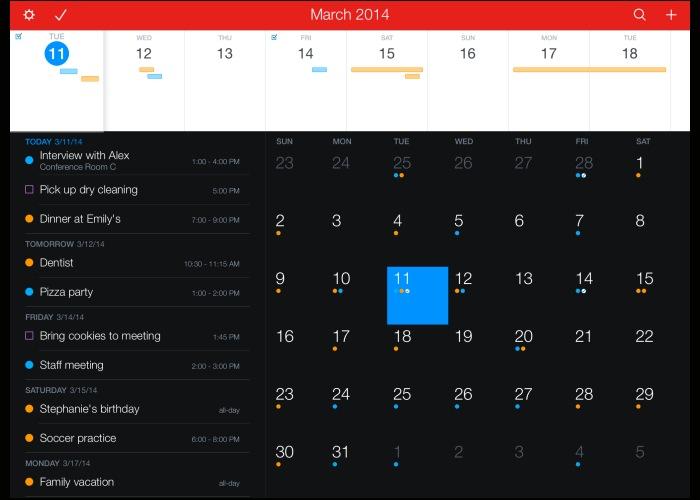 Fantastical 2 iPad app