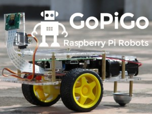 GoPiGo Raspberry Pi Robot Kit (video)