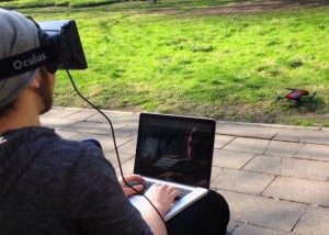 Oculus Rift Virtual Reality Headset Used to Control Quadcopter Drone (video)