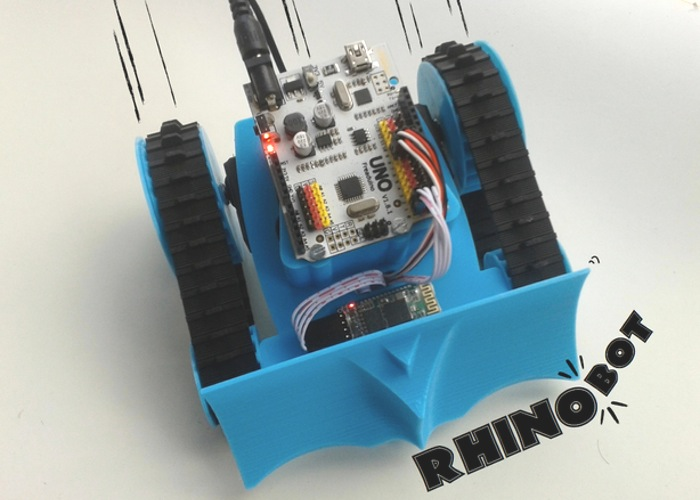 Open source rhinobot diy robot powered by arduino uno video