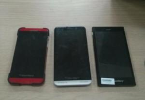 Blackberry Z3 Spotted Alongside Blackberry Z10 and Z30