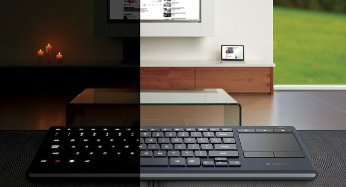 Logitech k830 home entertainement keyboard announced video for Living room keyboard mouse