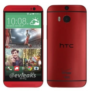 Red HTC One M8 for Verizon shows up in pictures