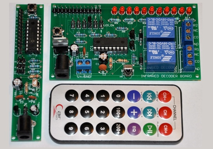 Arduino infrared learning processor board set video
