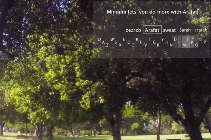Google Glass typing