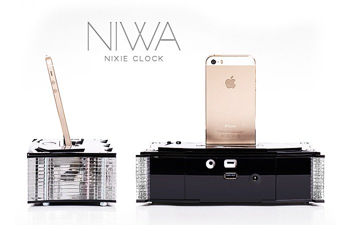 NIWA Nixie Clock And iPhone 5 Dock