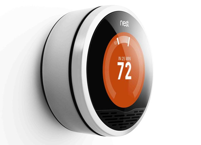 Smart nest thermostat now available for 99 from npower uk - Nest thermostat stylish home temperature control ...