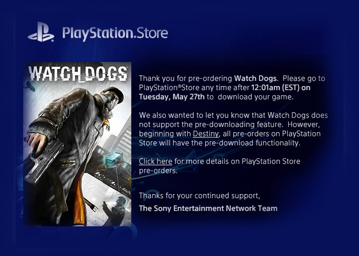 PlayStation Pre-loading