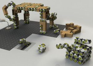 Roombots Modular Robots Create Furniture To Meet Your Needs (video)