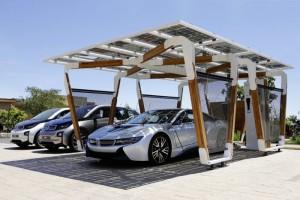 BMW Shows Off Solar Car Port For BMW i8 And i3