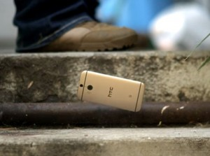 HTC One M8 gets shot by a sniper rifle