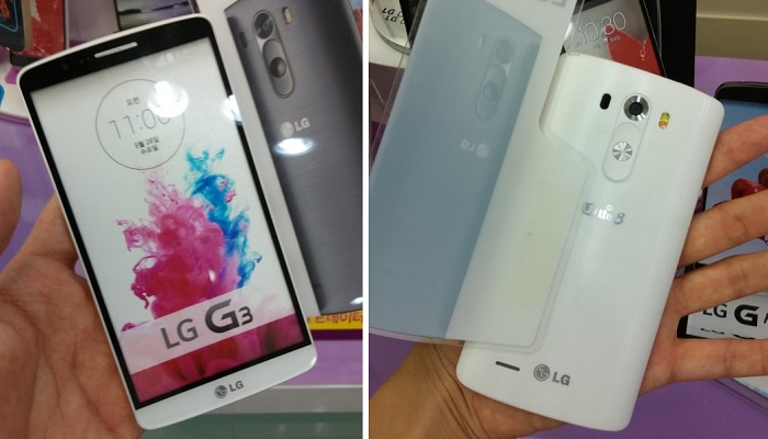 LG G3 Dummy Unit Poses for the Camera