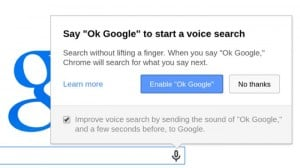 Google Chrome Update Add Voice Search With OK Google