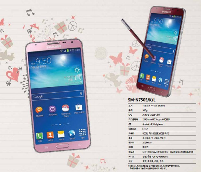 Red and pink Samsung Galaxy Note 3 Neo coming our way
