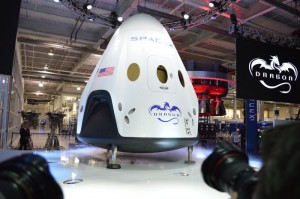 Elon Musk Shows Off SpaceX Dragon V2 Capsule