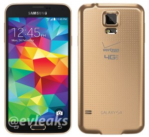 Gold Samsung Galaxy S5 For Verizon Leaked