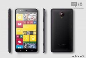 ZTE Nubia W5 Windows Phone 8.1 Handset Leaked