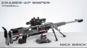 Life Size Lego Titanfall Kraber-AP Sniper Rifle Created (video)