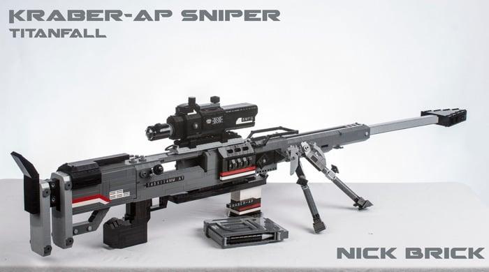 Lego Titanfall Kraber-AP sniper rifle