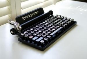 Qwerkywriter Typewriter Inspired Mechanical Keyboard (video)