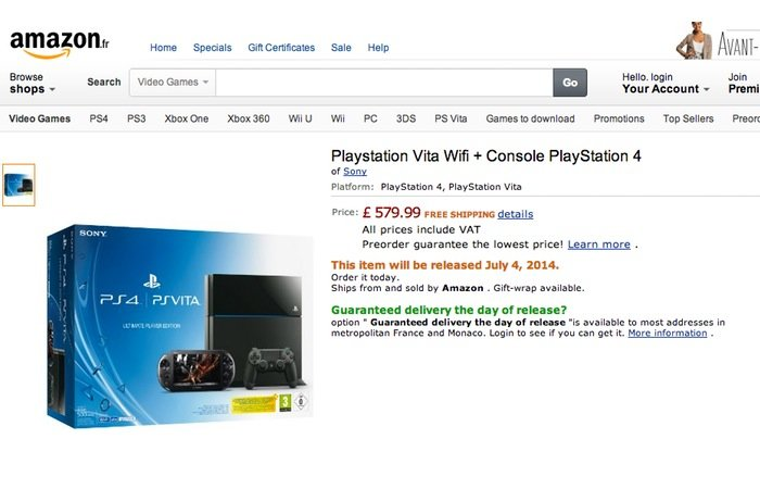 PlayStation 4 PS Vita Bundle
