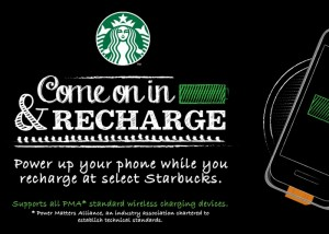 Wireless Starbucks Charging Stations Rolling Out To All US Stores