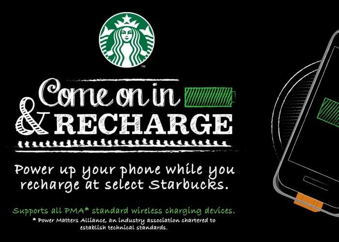 Starbucks charging