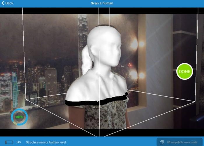 iPad 3D scanning app