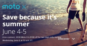 Motorola offers $100 Discount On Moto X This Week