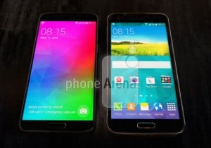 Samsung Galaxy F Poses Next To The Galaxy S5