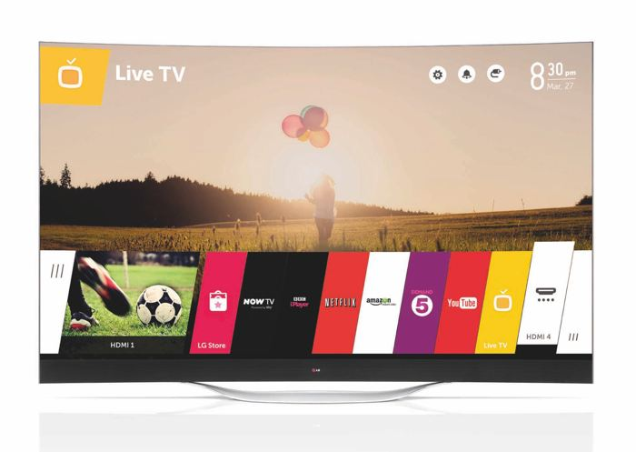 LG Curved ultra hd tv